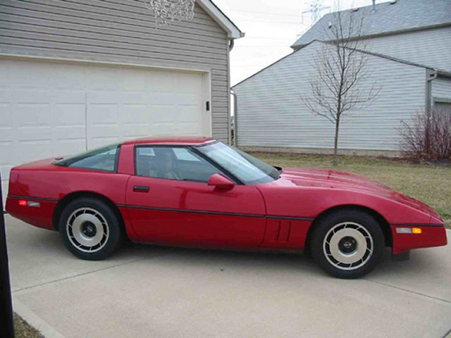 1984 Corvette before the project started